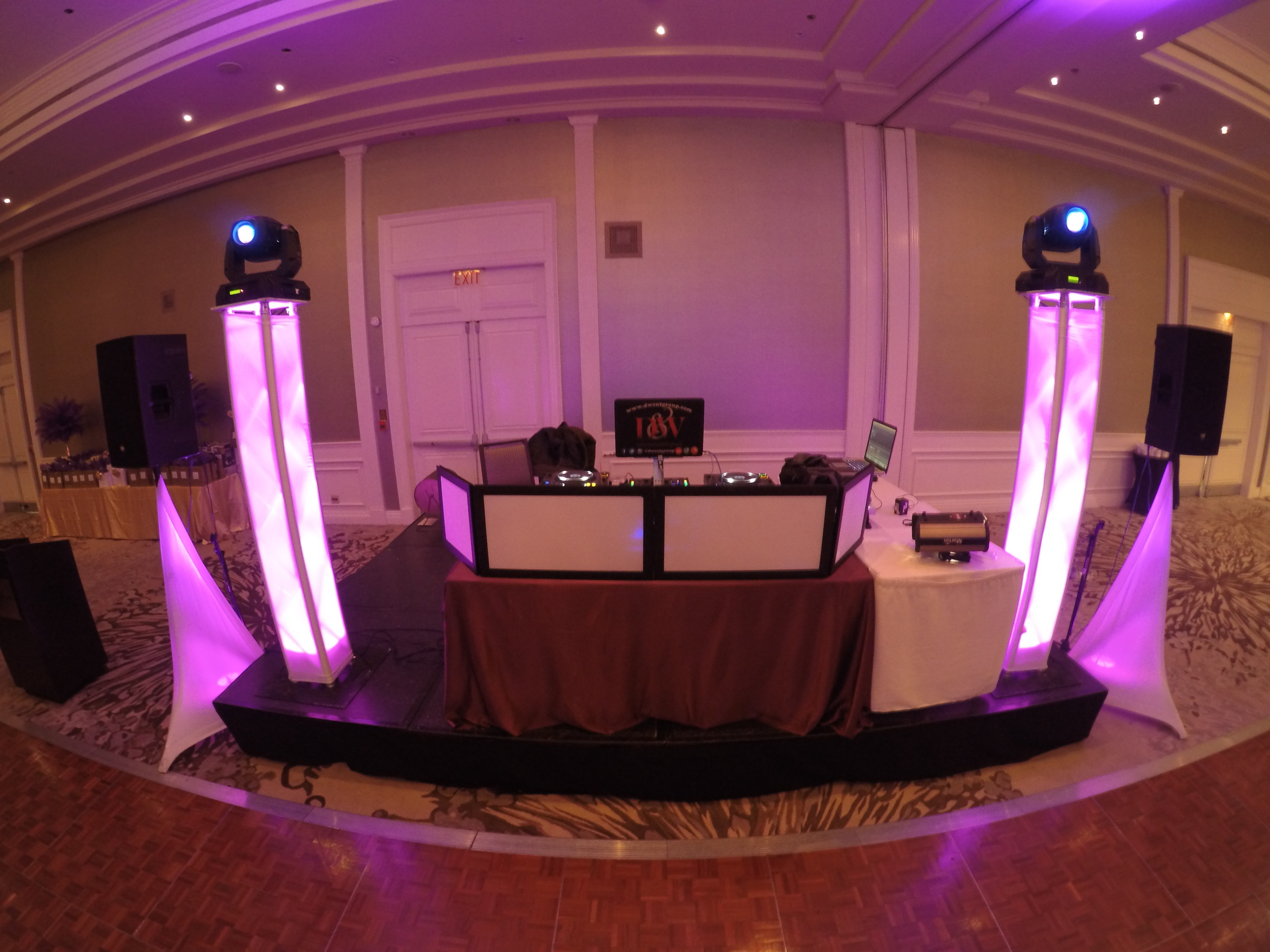 Purple - DJ Setup - The Westin Hotel